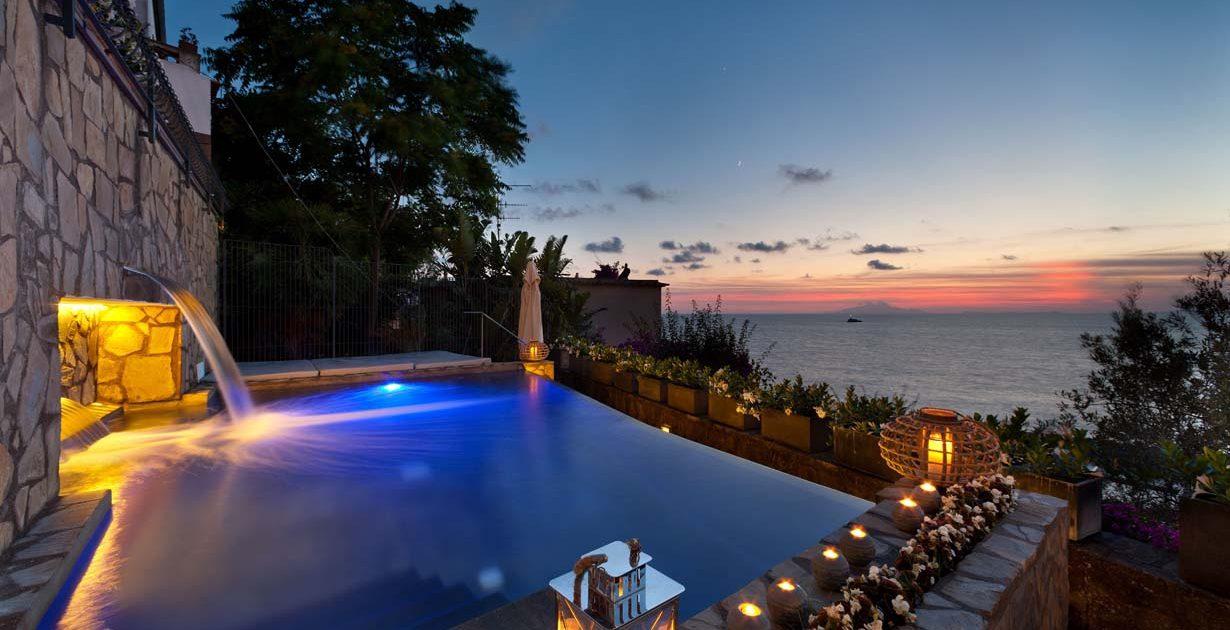 Villa Biancalisa Sorrento Coast panoramic pool